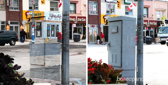 10+ Incredible Before & After Street Art Transformations That'll Make You Say Wow - Signal Box In Toronto, Canada
