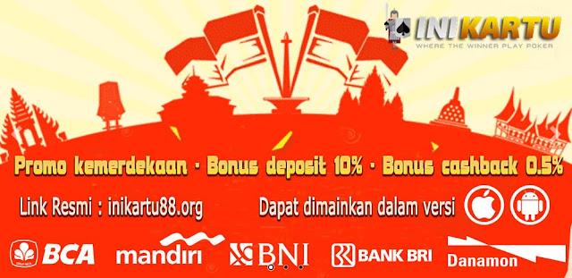 bonus freebet 10% judi poker online
