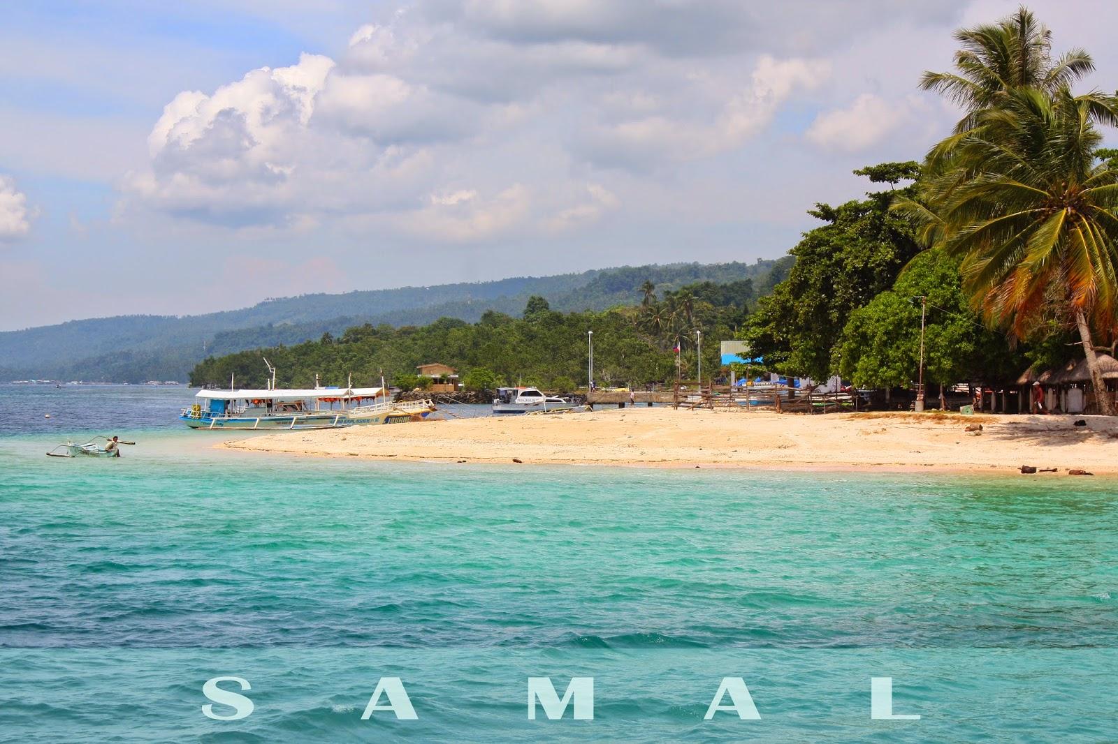 Kaputian Beach Park, one of the popular Samal beaches
