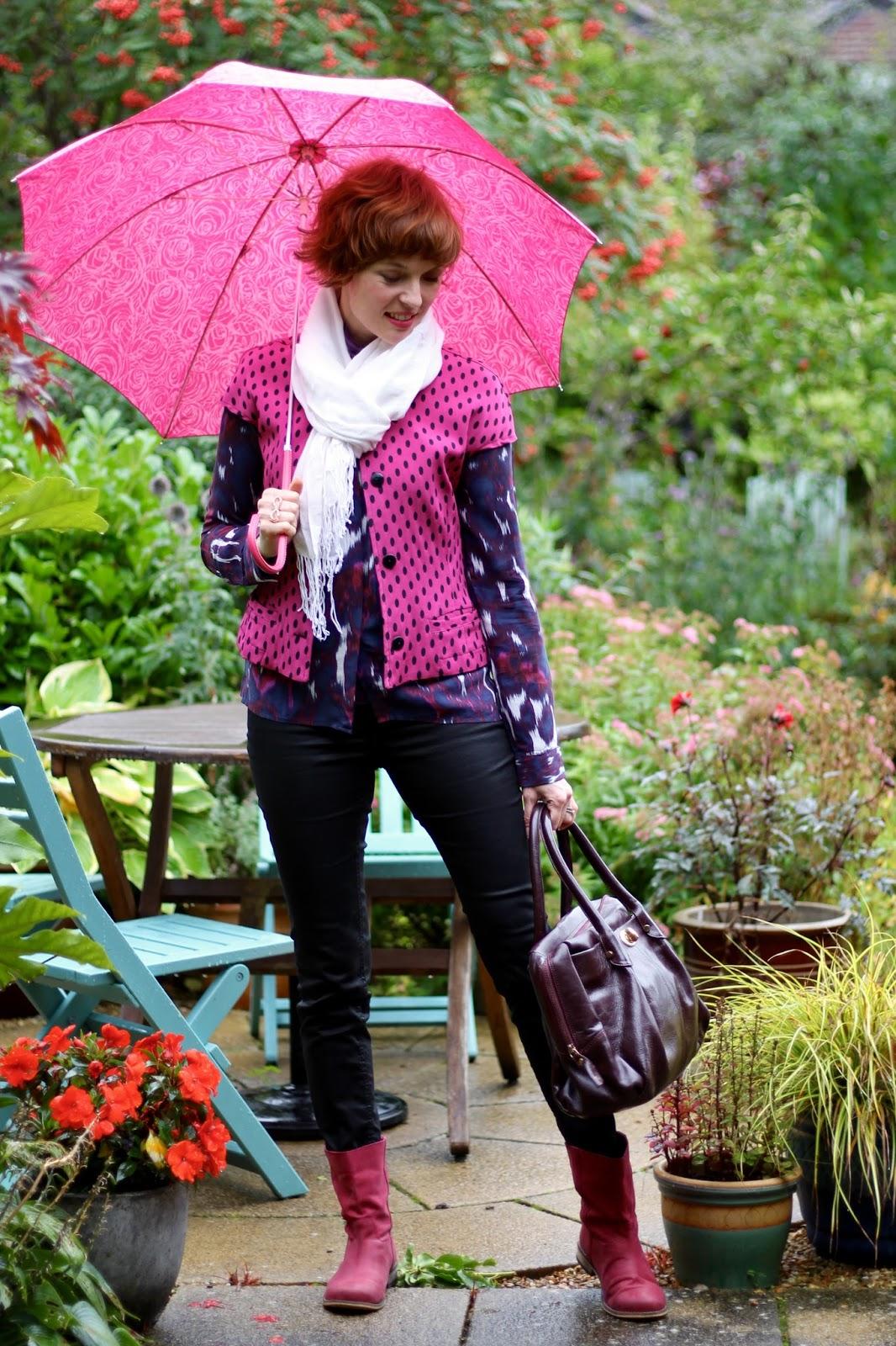 One Pink Spotty Vintage Jacket, 3 ways | PPP 9 | Fake Fabulous