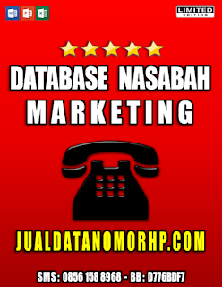 Jual Database Nasabah Priroitas Marketing