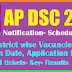 AP DSC 2018 Notification, District wise Vacancies, Exam Date, Application form