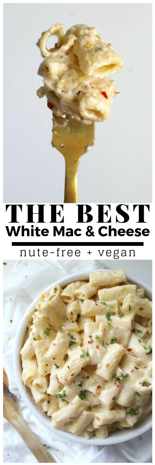 BEST VEGAN WHITE MAC AND CHEESE #Vegan #HealthyFood