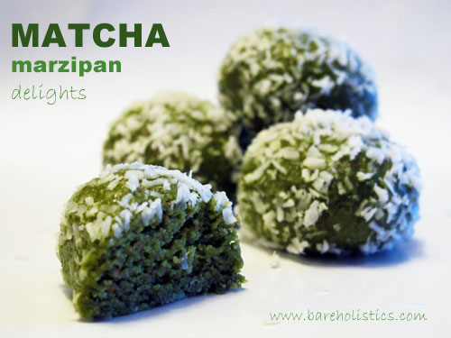 matcha marzipan delights