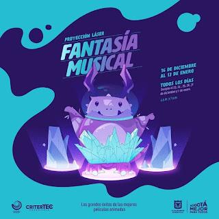POSTER FANTASÍA MUSICAL Proyección Laser | Planetario