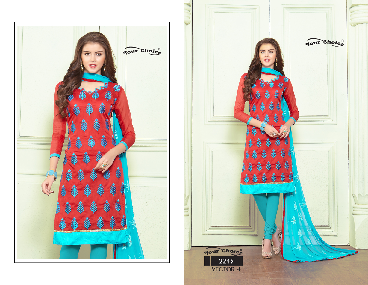 Vector Vol 4 – New Churidar Collection Of Dress Material