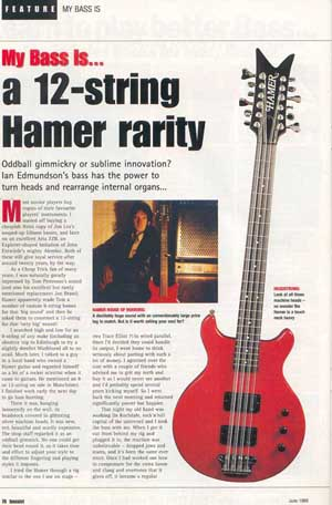 Bassist magazine article