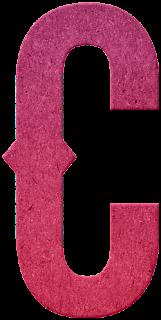 Abecedario Rosa en Fieltro. Pink Alphabet in Felt.
