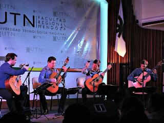 Brinde de Vinho do Cuarteto de Guitarras Ecos, UTN, Mendoza