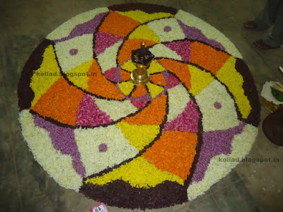 Onam Pookalam With Theme