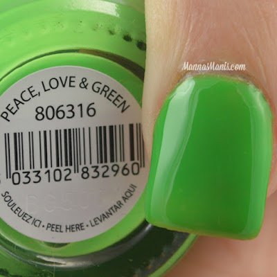 FingerPaints Tie Dye Revolution Peace, Love, and Green swatches