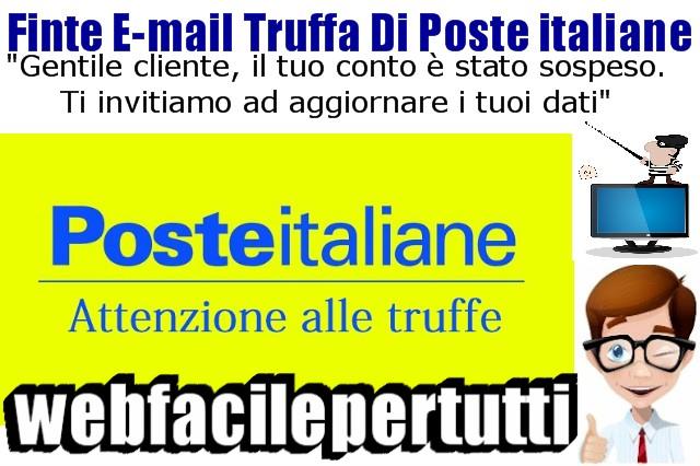 Attenti alle finte e mail truffa poste italiane gentile for Mail il tuo account e stato hackerato