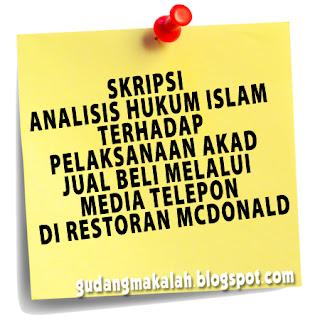 contoh skripsi hukum islam