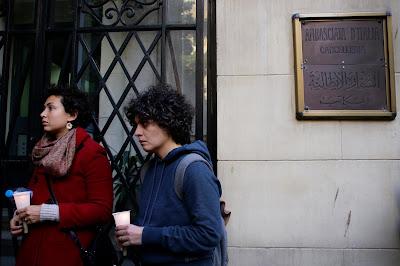 Mourning Giulio at Italian embassy in Cairo