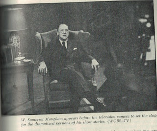 W. Somerset Maugham before the Television Camera