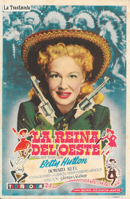 Programa de Cine - La Reina del Oeste - Betty Hutton - Howard Keel