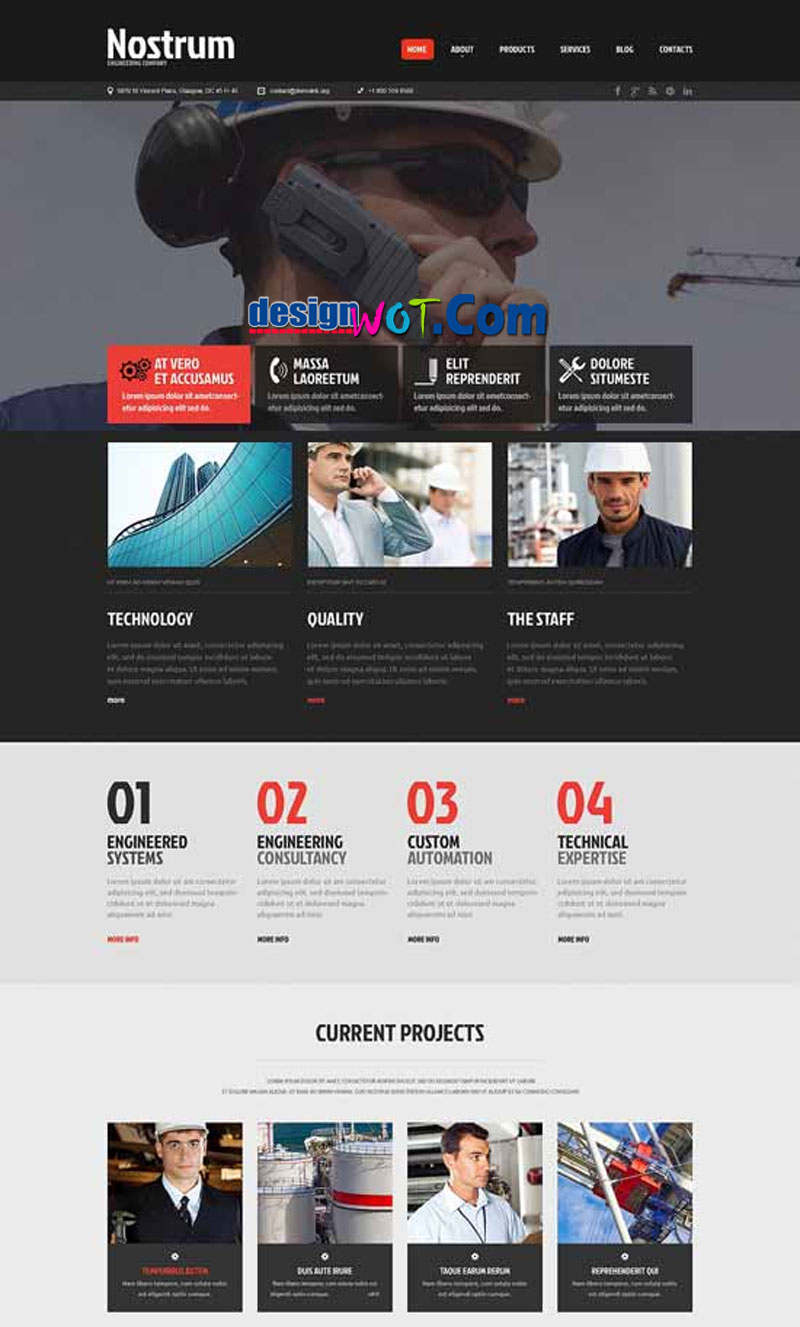 NOSTRUM Responsive HTML WordPress Template