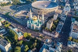 Putin Resmikan Masjid Terbesar di Rusia....