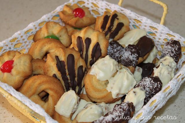 Galletas de mantequilla danesas. Julia y sus recetas