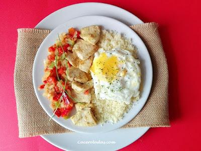 cous cous con pollo y verduras