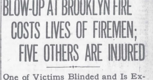 Have You Seen My Roots?: Amanuensis Monday - Fatal Fire in Brooklyn Kills Firemen