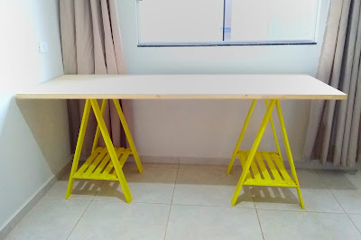 DIY Cavaletes com paletes