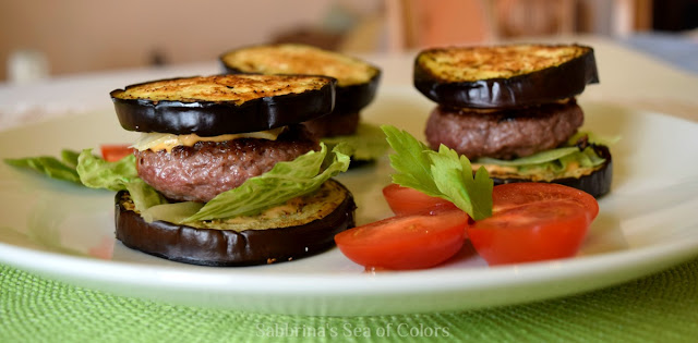 Mini hamburguesas con berenjena