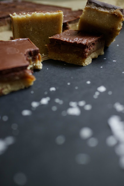 She's So Lucy // Healthy Coconut Sugar Salted Caramel Millionaire's Shortbread Recipe