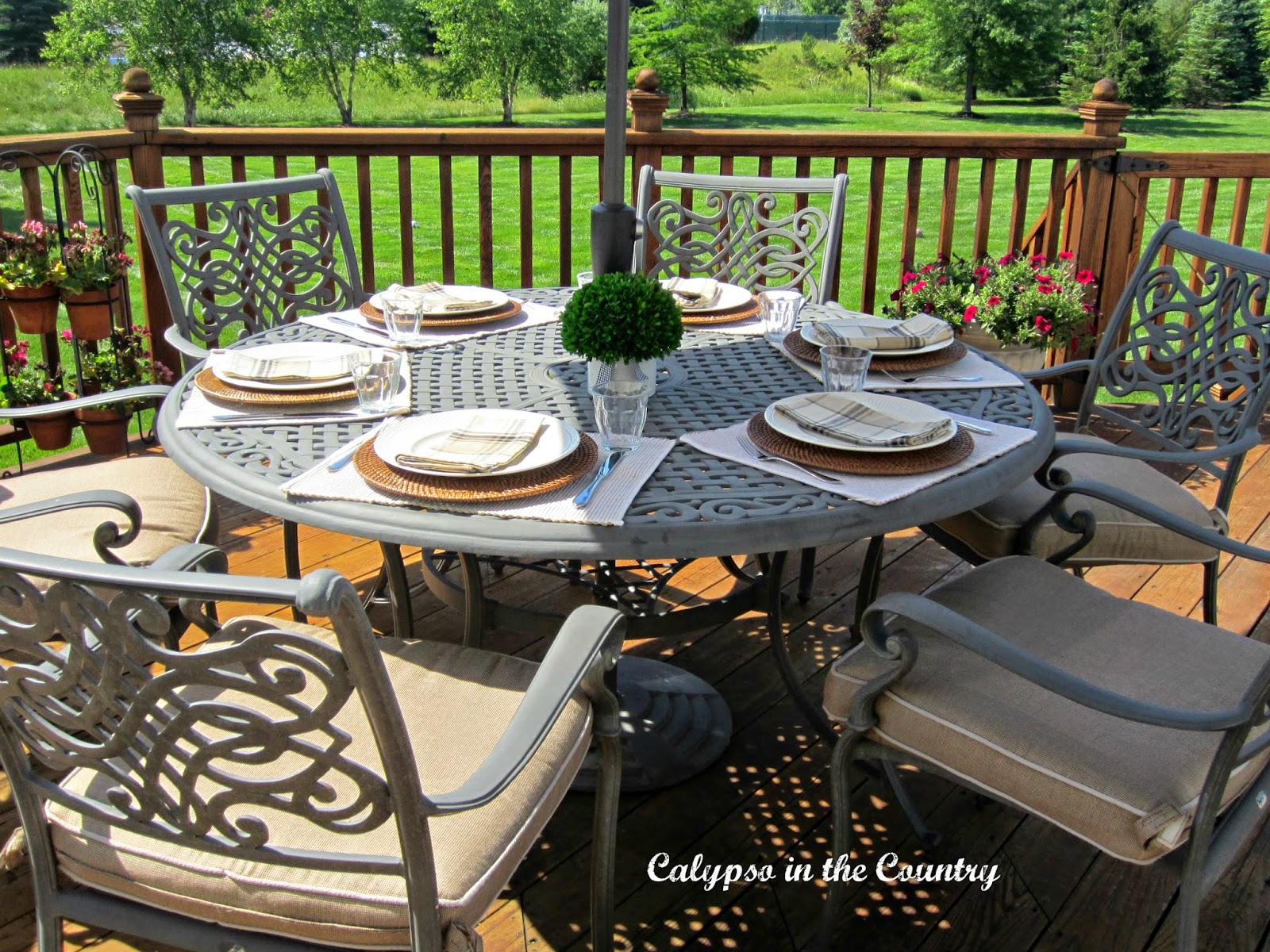 Outdoor table setting for Father's Day
