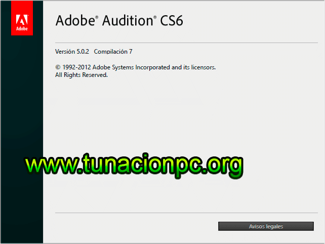 Adobe Audition CS6 para windows y mac