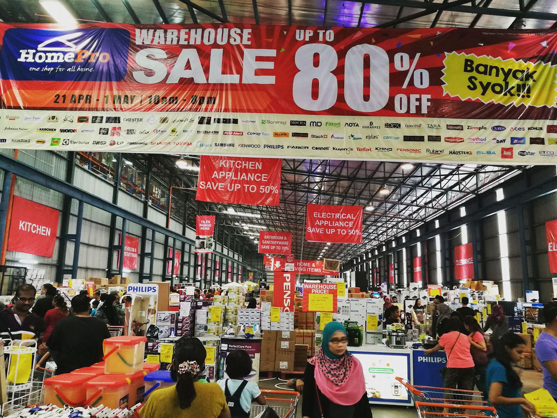 Jualan Gudang Homepro Warehouse Up To 80 Puchong Until 1 May 2017