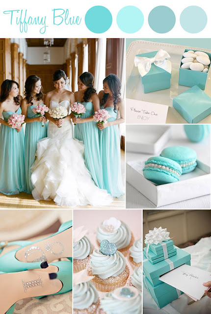 elegant-Tiffany-themed-wedding-color-ideas Gli inviti Tiffany di Eliana e Pier ClaudioColore Bianco Colore Tiffany Fiocchi Partecipazioni intagliate