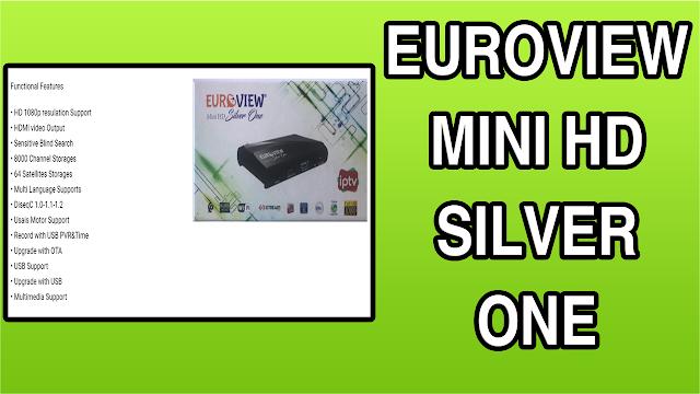 تحميل التحديث الاخير لجهاز MISE À JOUR EUROVIEW MINI HD SILVER ONE