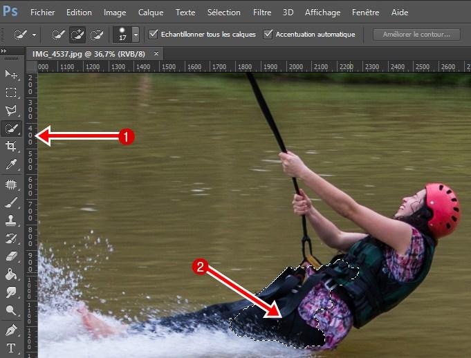 Outil de sélection rapide sur photoshop