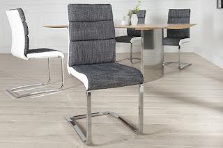 Jídelní židle bílo šedá.