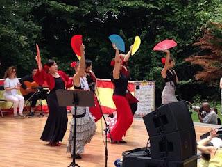 A flamenco performance at Feria de Sevilla