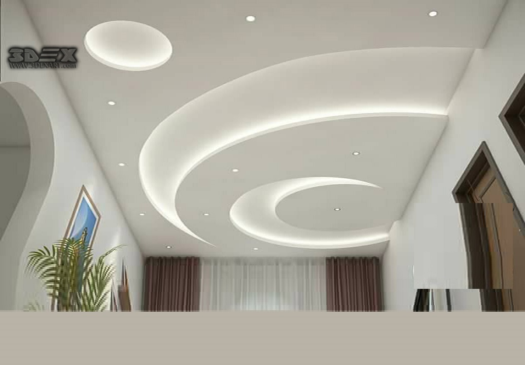 Latest POP design for hall, 50 false ceiling designs for living ...