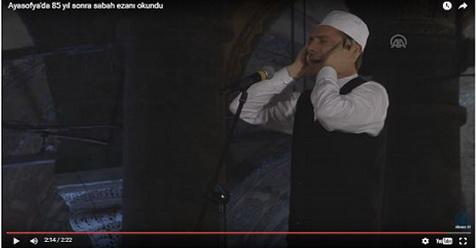 Setelah 85 Tahun Tak Terdengar, Adzan Kembali Berkumandang Di Hagia Sophia Turki