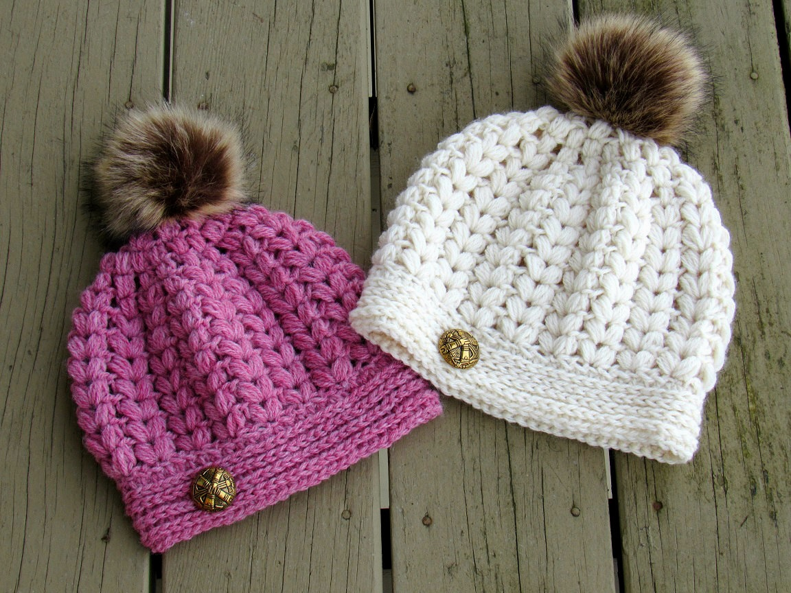 Crochet Dreamz: Pearl Beanie, Puff Stitch Crochet Hat Pattern