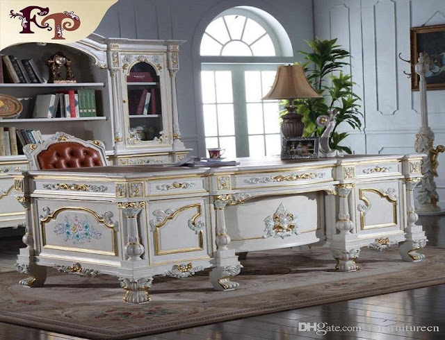 best buy French white luxury office furniture sets for sale