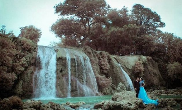 Air terjun toroan Sampang Jadi lokasi foto prewedding