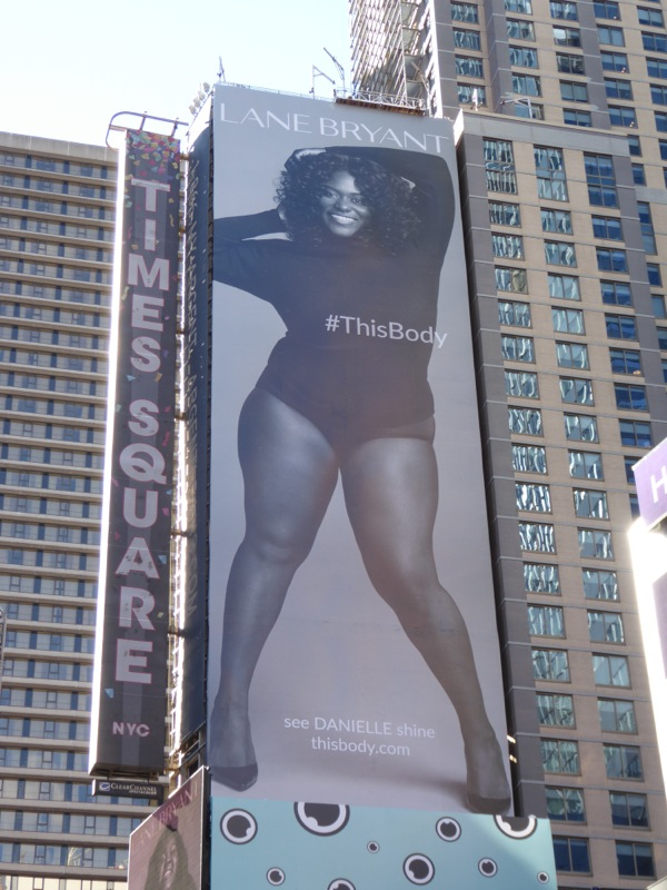 Danielle Brooks Lane Bryant This Body billboard NYC