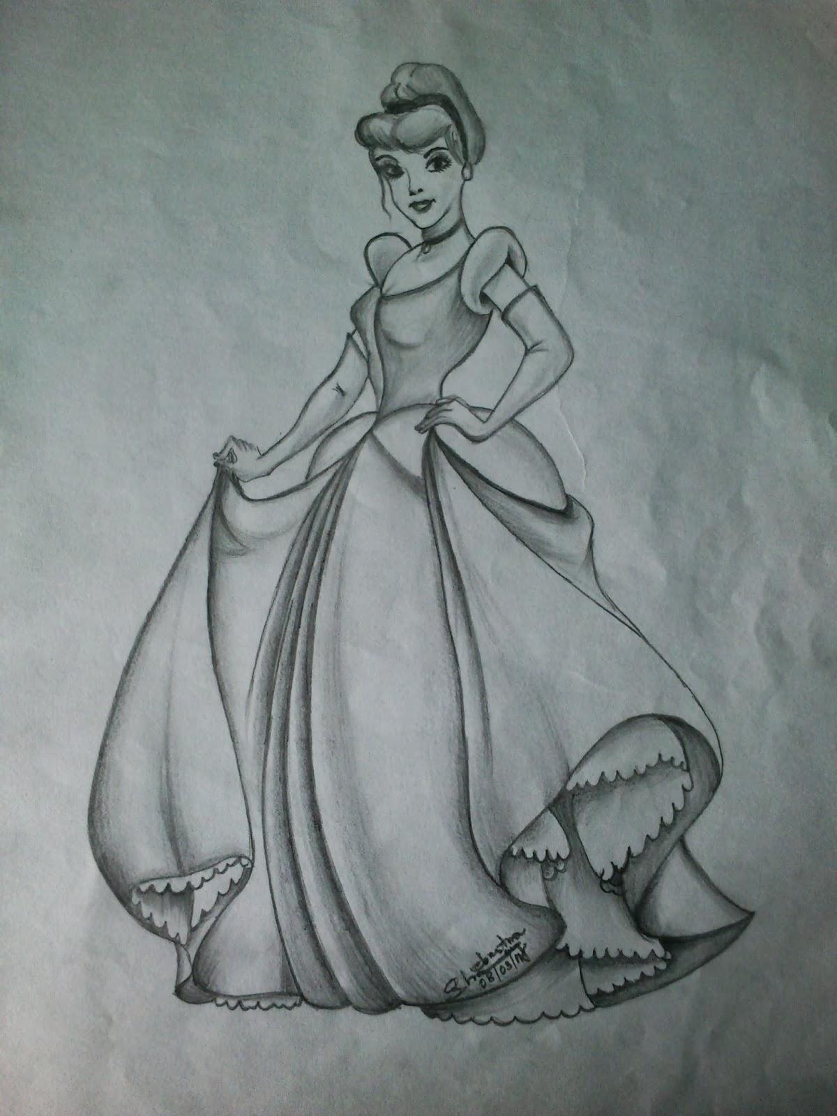 Pencil Sketches: Cinderella