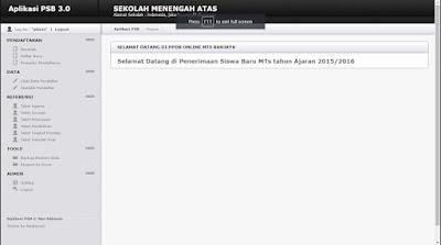 Download Source code Aplikasi Penerimaan Siswa Baru PSB