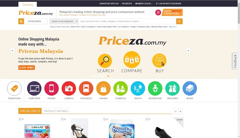Price compare for online shopping