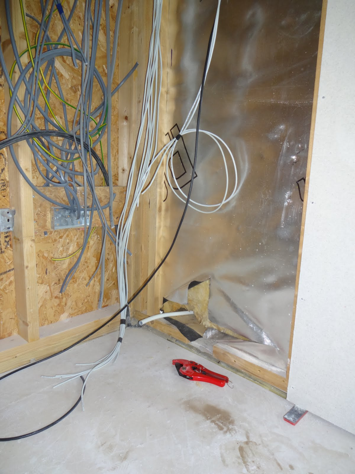 Vas Home Build Boarding Walls Ground Floor Electrical Wiring In Cinder Block The Conduit Should Allow Bt To Pass Their New Cables Through Wall Without Any Drilling And Also Ensures We End Up With Cable Entering Room