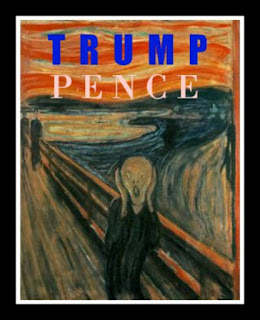 The Scream Trump Pence Poster.