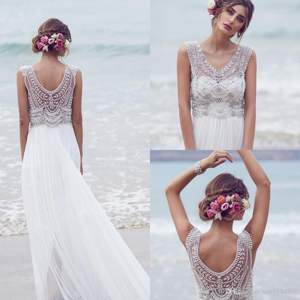 Vestidos de novia para la playa con encaje