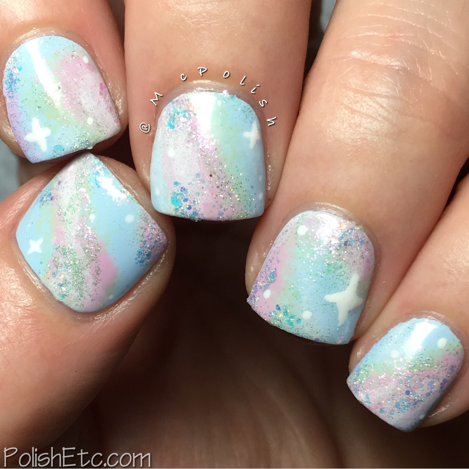 Pastel Galaxy Nails for the #31DC2017Weekly - McPolish