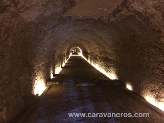 Foto del Pasillo del circo romano de Tarragona | caravaneros.com